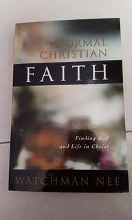 The Normal Christian Faith by Watchman Nee