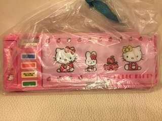 Hello Kitty筆盒、連筆刨
