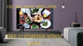 Sony 55X7000F 4K Ultra HD LED Internet TV with free Soundbar