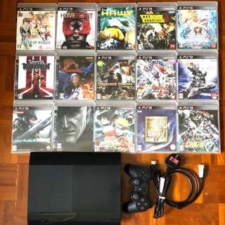 PS3 500GB Super Slim with 15 games and controller!!