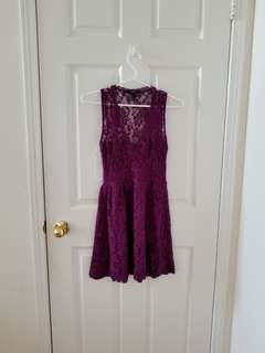 Forever 21 Purple Lace dress