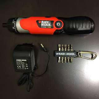 Black & Decker Electric Screwdriver with 10 bits
