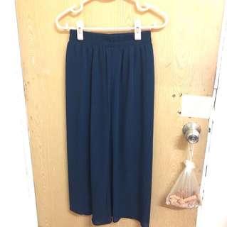 3件450~藍色雪紡寬褲