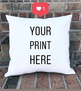 PERSONALIZED PILLOW (14X14 inches)