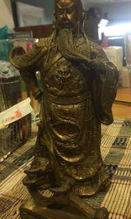 Guan Yu Brass Statue