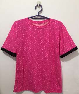 Pink Shirt with Star Prints