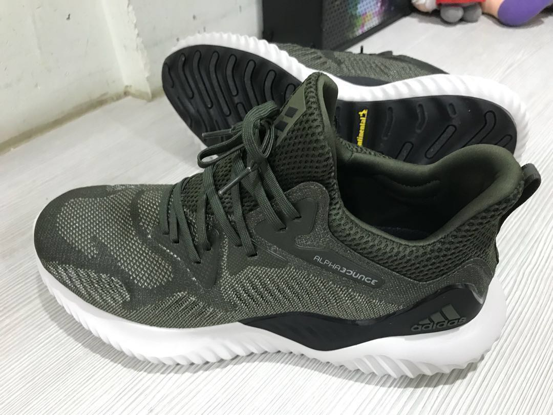 2de0f345ed3d2 Adidas Alphabounce Beyond M (Army Green) 100% Authentic
