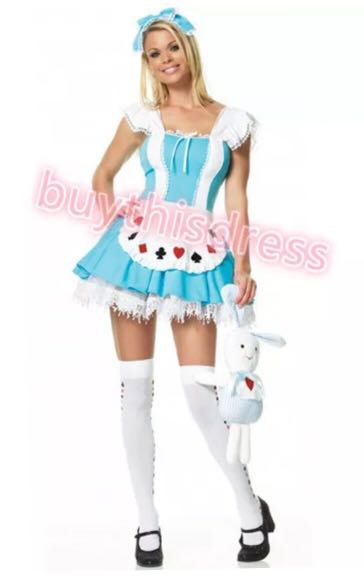 Alice in the Wonderland Lovely Party Dress Costume AU size 8