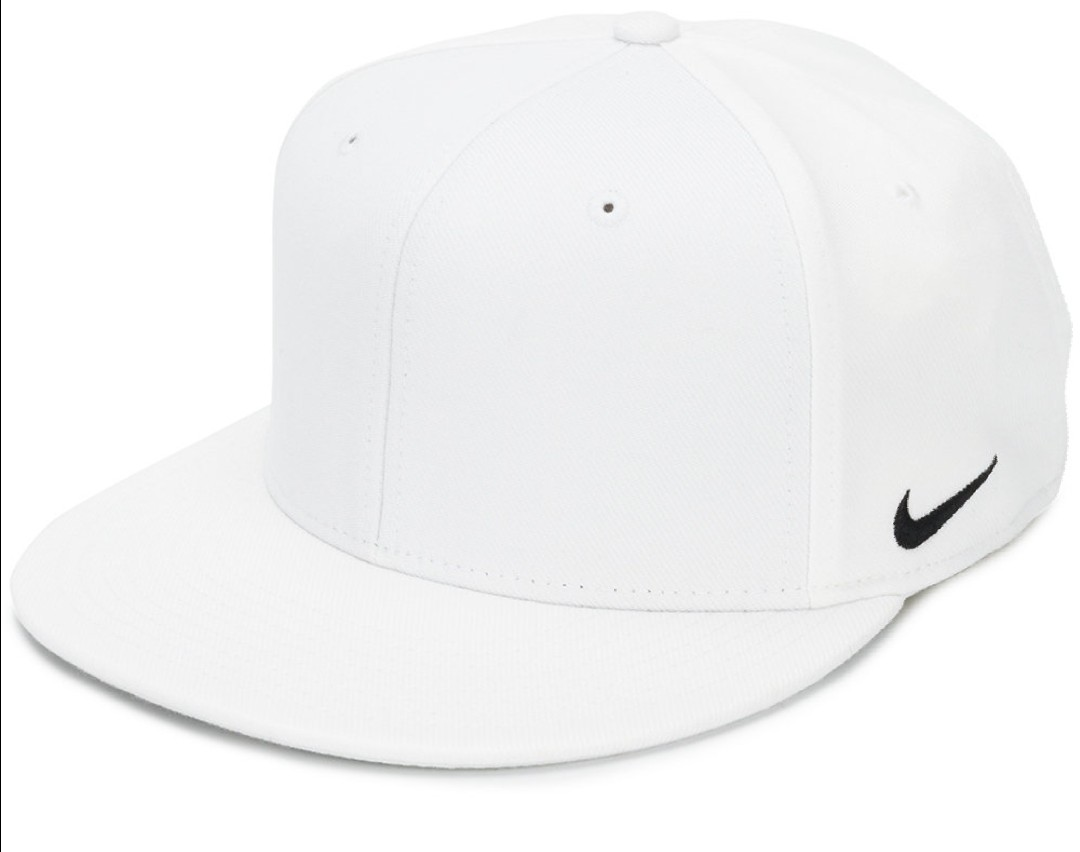 Nike Logo Fitted Cap White (S M Size) 1d3ce4a9e81