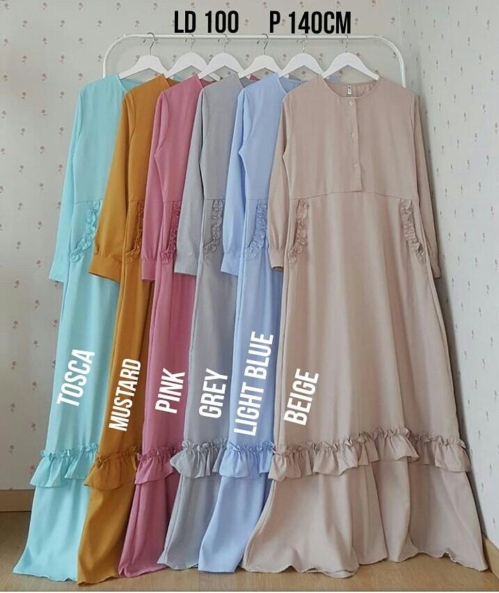 Baju Gamis Polos Katun Toyobo Busui Friendly Olshop Fashion Olshop
