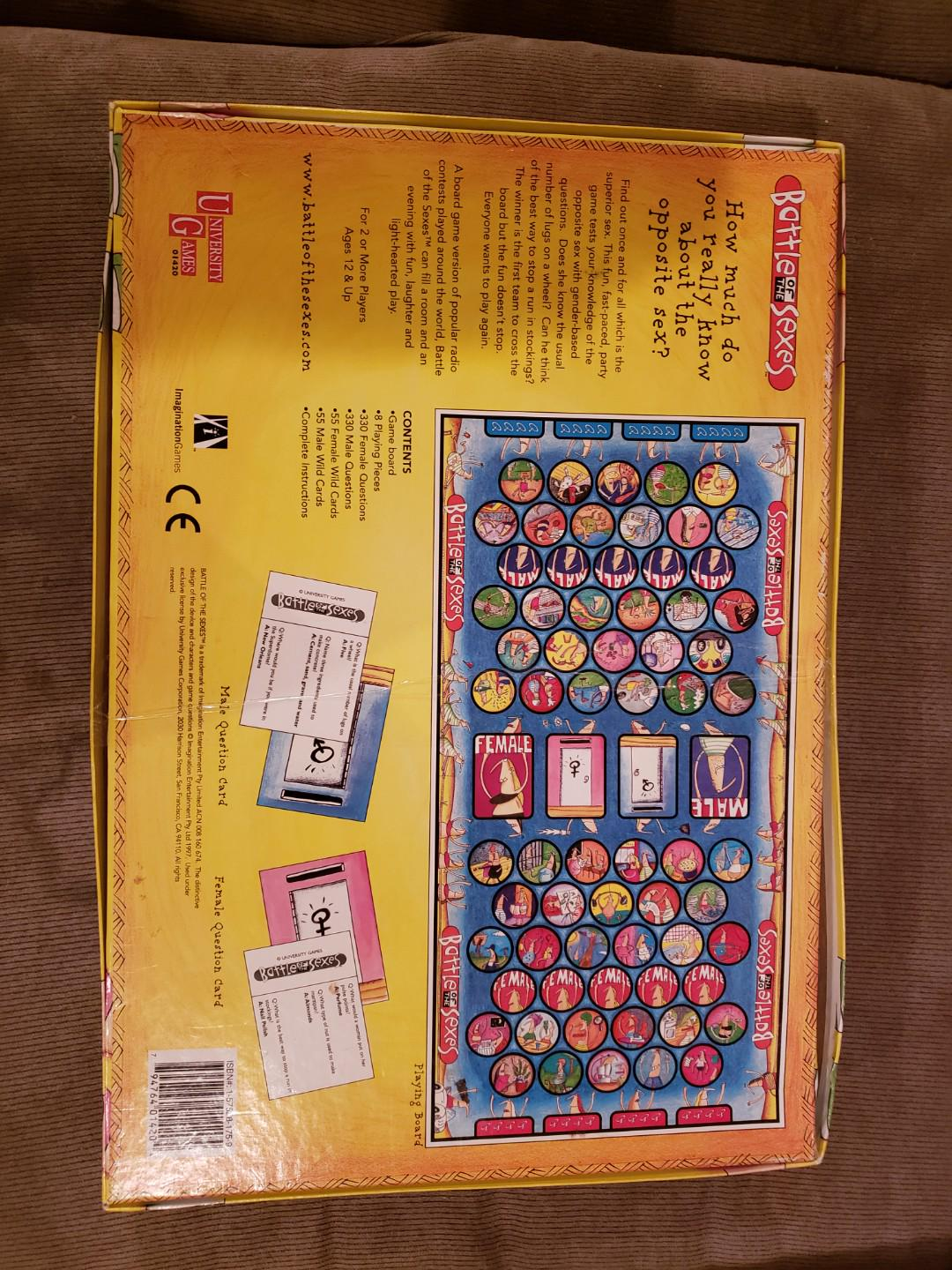 Battle of the Sexes Board Game Used but in good condition vintage price is negotiable