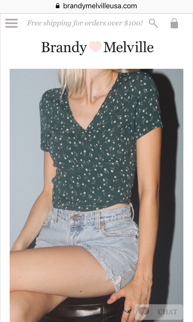 d2de9e10ca01 BRANDY MELVILLE RAE TOP, Women's Fashion, Clothes, Tops on Carousell