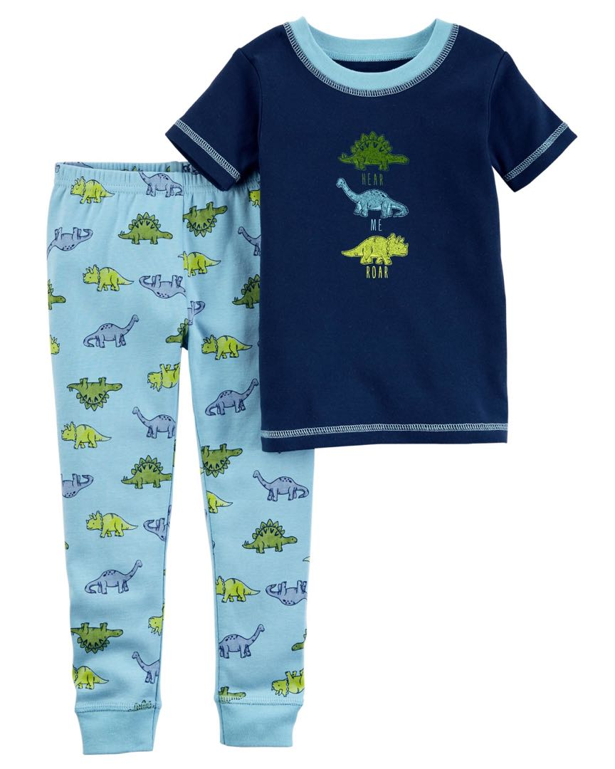 cbc27069a Carter s organic cotton dinosaur Pyjamas