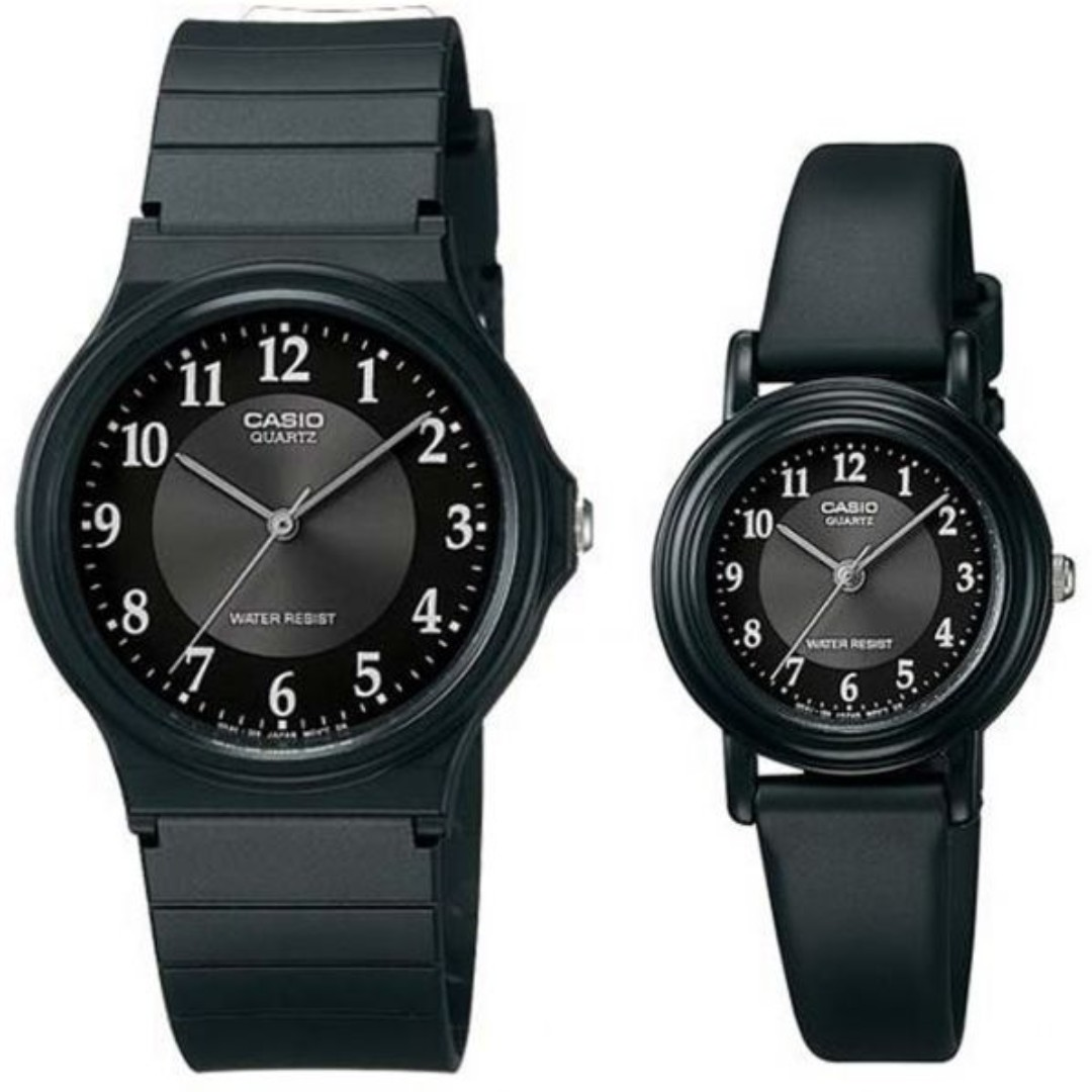 5cdd910a24c3 Casio  36 - His   Her For Unisex Black Dial Resin Band Couple Watch ...