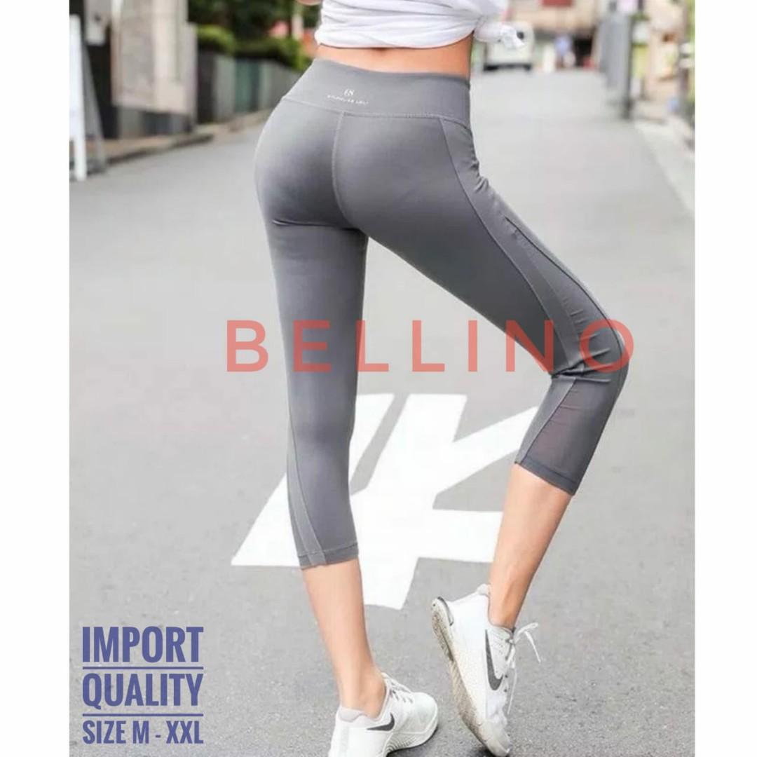 Celana Legging Sport Import 7 8 T1717 Tile Transparan Samping Celana Gym Aerobic Yoga Zumba Wanita Olshop Fashion Olshop Wanita Di Carousell