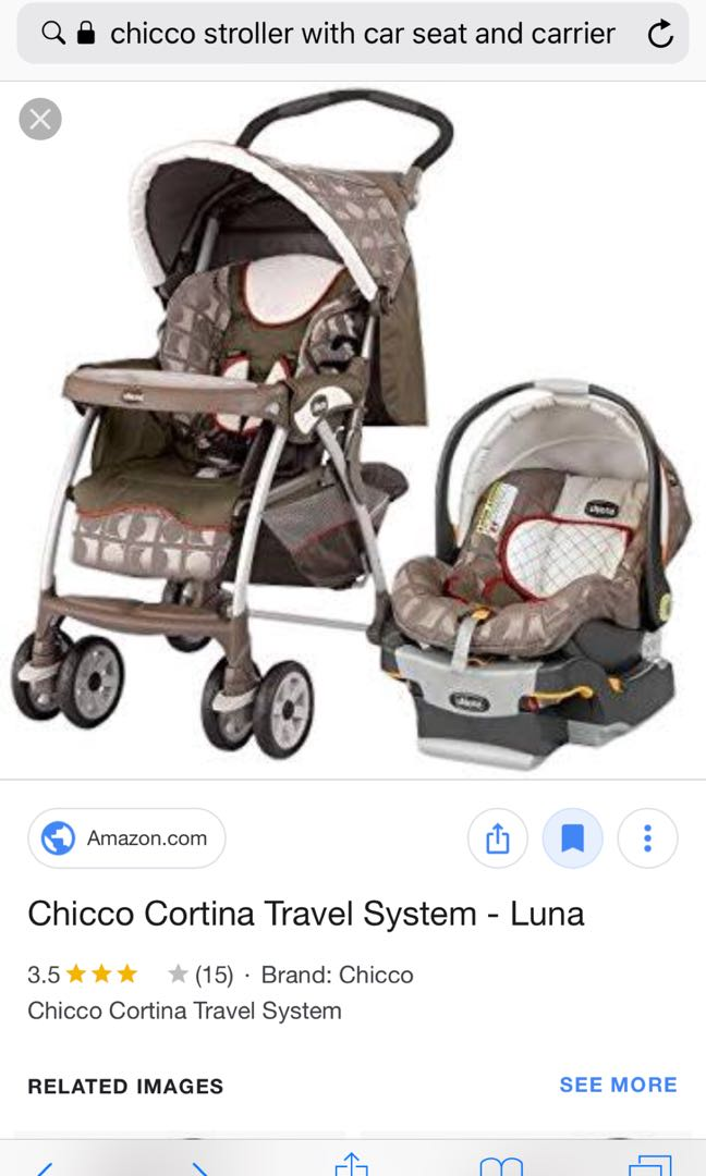 Chicco Stroller With Car Seat Babies Kids Prams Strollers On