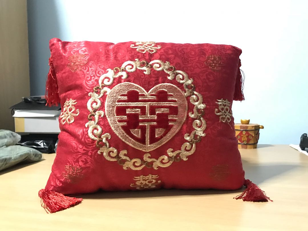 2a533e14f Chinese Wedding mini red cushion bed decor / kneel cushion ...