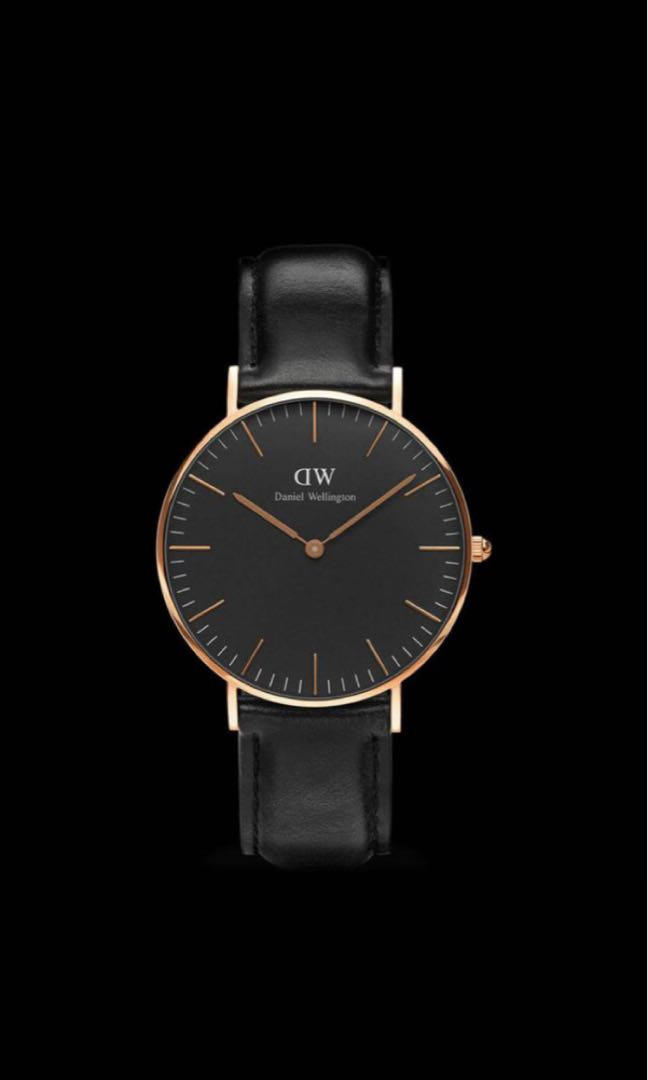 e86f2f3a9bee Daniel Wellington classic black rose gold both 40mm and 36mm avail ...