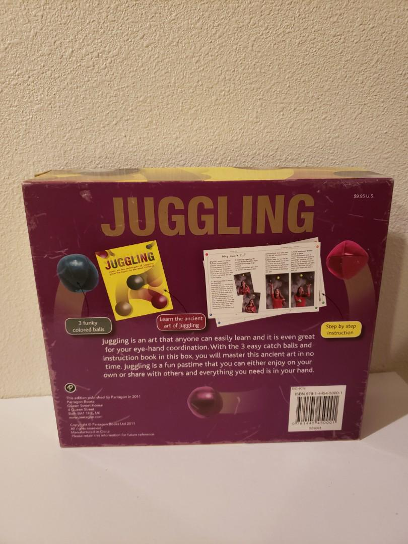 Easy to Learn Juggling Starter Kit for Beginners Learning Including How to Juggle Book Used but in good condition vintage price is negotiable