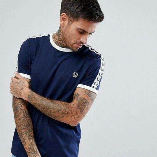 00f3ba61a Fred Perry Sports Authentic Ringer Tape Tee, Men's Fashion, Clothes ...