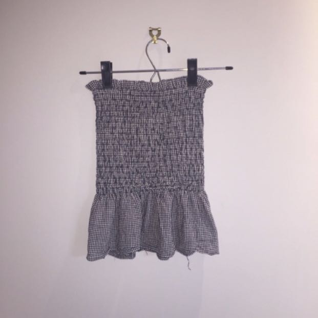 Glassons Checkered Bandeau Top