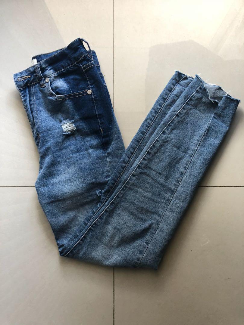 High grazer skinny jeans