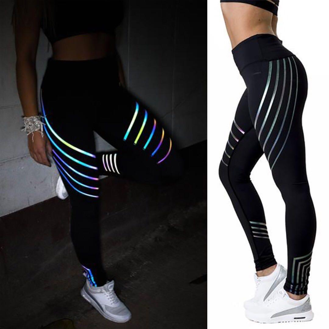 1d2943cd491d9 Lumi - Rainbow Reflective Leggings, Women's Fashion, Clothes, Pants ...