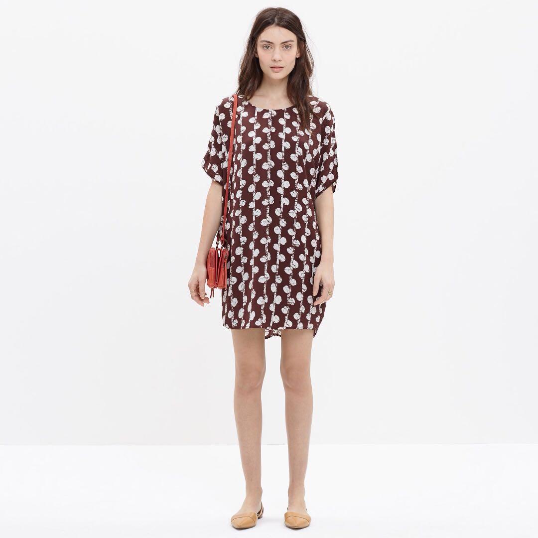 0b869c2f0c Madewell Silk Easy Tunic in Batik Vine XS, Women's Fashion, Clothes ...