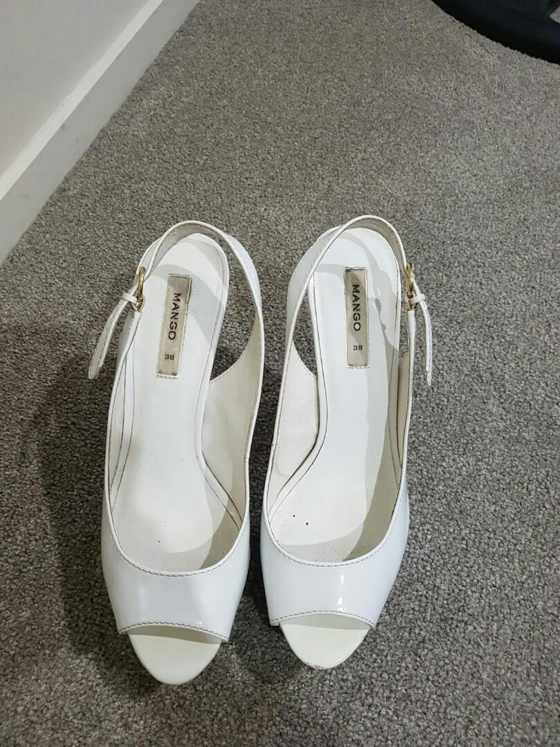 MANGO white heels