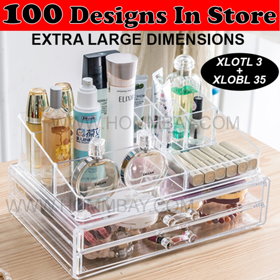 ee2205772f28 Makeup Make up Organizer Clear Acrylic Transparent Cosmetic ...