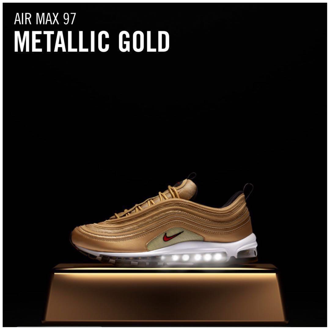 41f2450193 Men's Nike Air Max 97| METALLIC GOLD(2018), Men's Fashion, Footwear ...