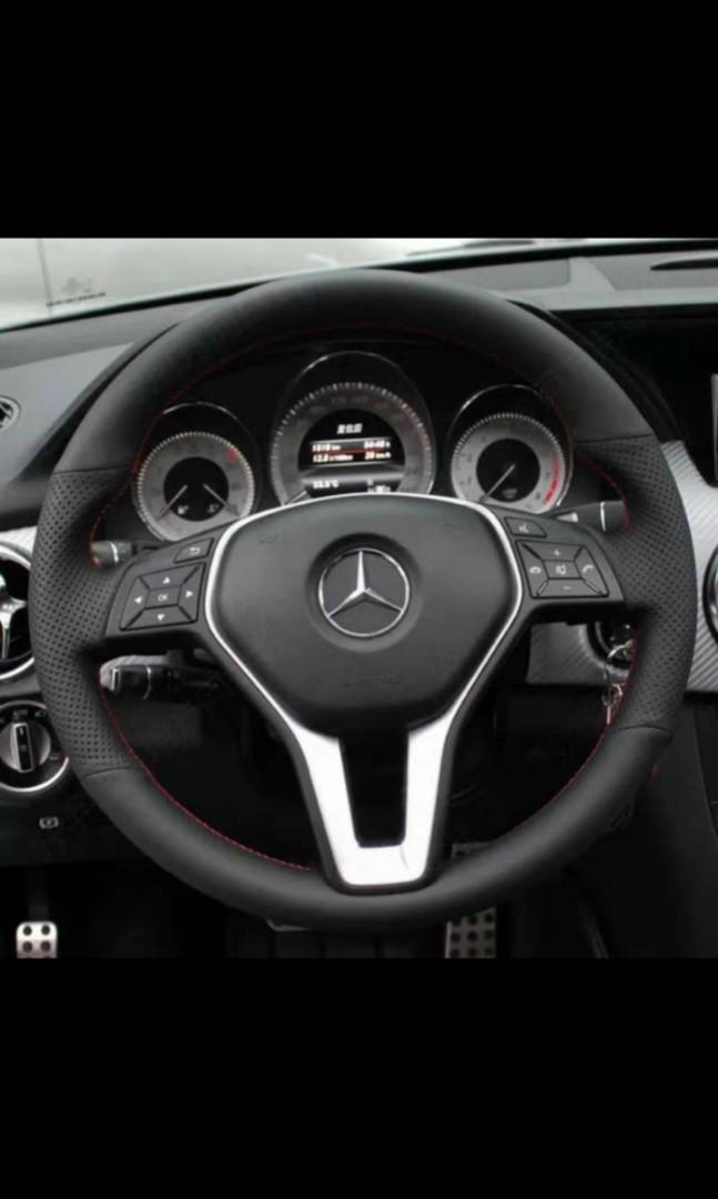 Mercedes Benz W204 C180 C200 Steering Wheel Leather Wrap Car Accessories Accessories On Carousell