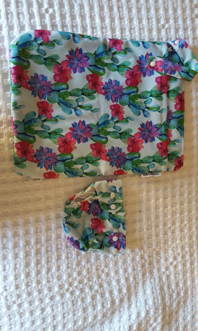 Milk Maid Mumma swim bag & washable nappy