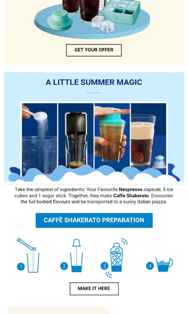 Nespresso Iced Coffee Kit Home Appliances Kitchenware On