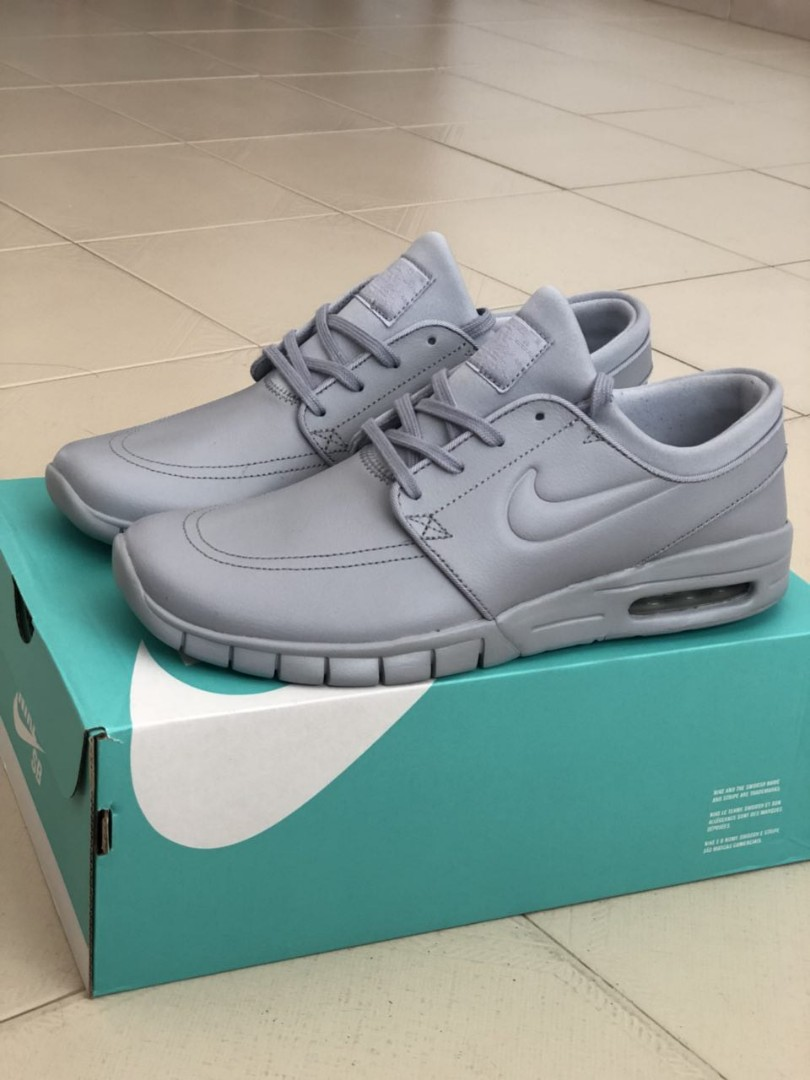 08bc706a86 Nike SB Stefan Janoski Max Grey Leather QUICK SELL, Men's Fashion ...