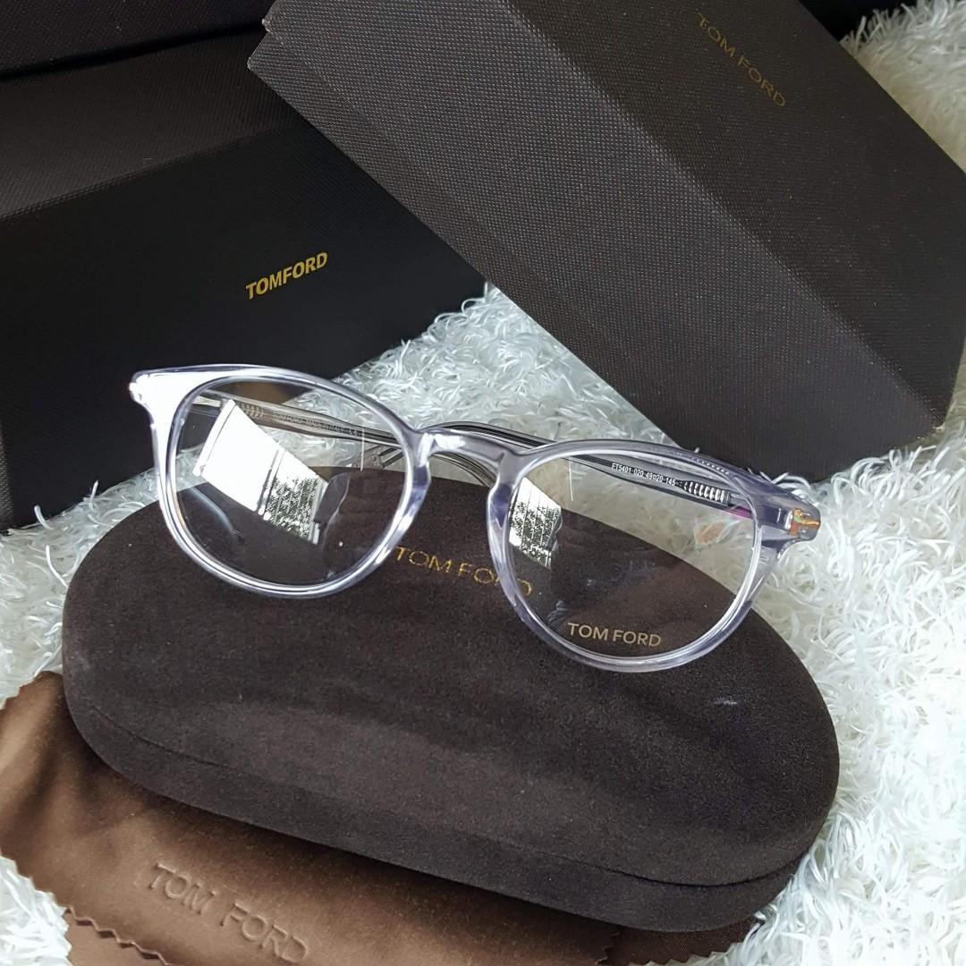 2ebd6822c9ff ON SALE  Authentic Tom Ford Transparent Prescription Eyeglass FT5401 ...