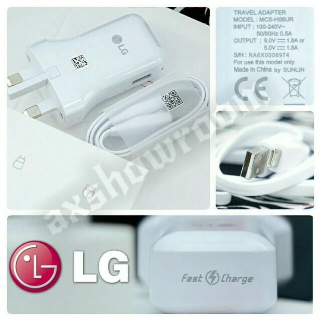 Original LG V20 Mains Wall Fast USB Charger With 1m cable