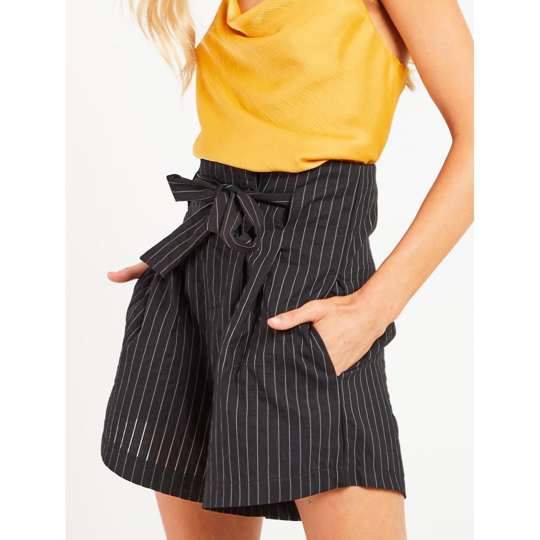 Blossom Boutique Hellen Short - Black Stripe