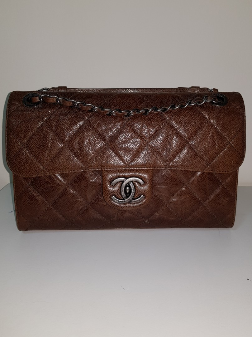 7a5d1ca0634c Preloved chanel cc crave 18x series brown, Luxury, Bags & Wallets ...
