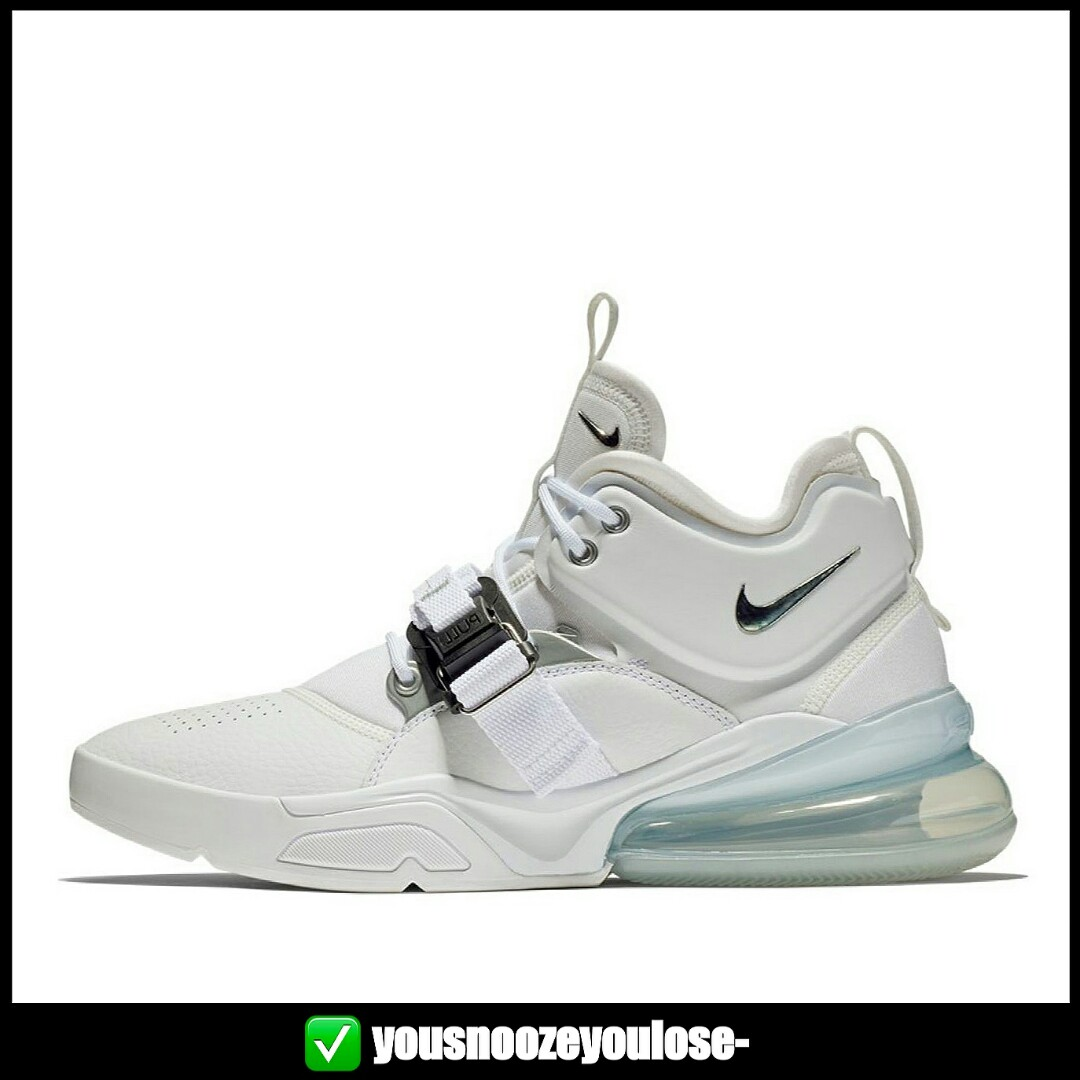 2e7fe994c2e PREORDER  NIKE AIR FORCE 270 TRIPLE WHITE METALLIC SILVER