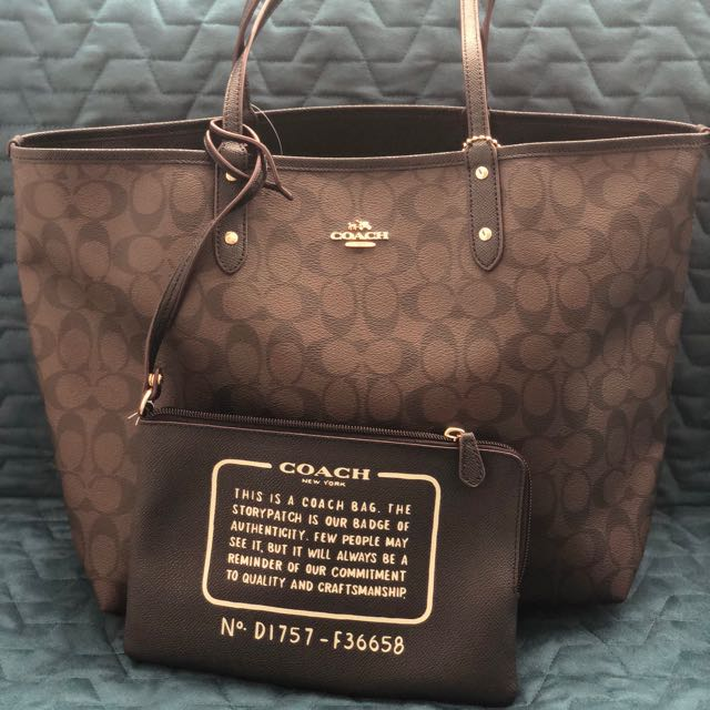 772c467298 SALE   250 Authentic Coach Reversible Tote Bag