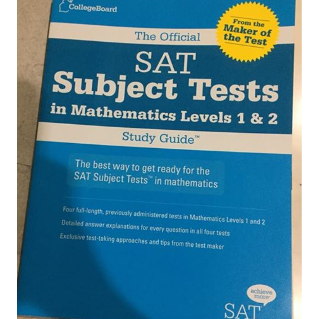 SAT Subject Test - Math Levels 1 and 2 (Official Guide), Textbooks ...