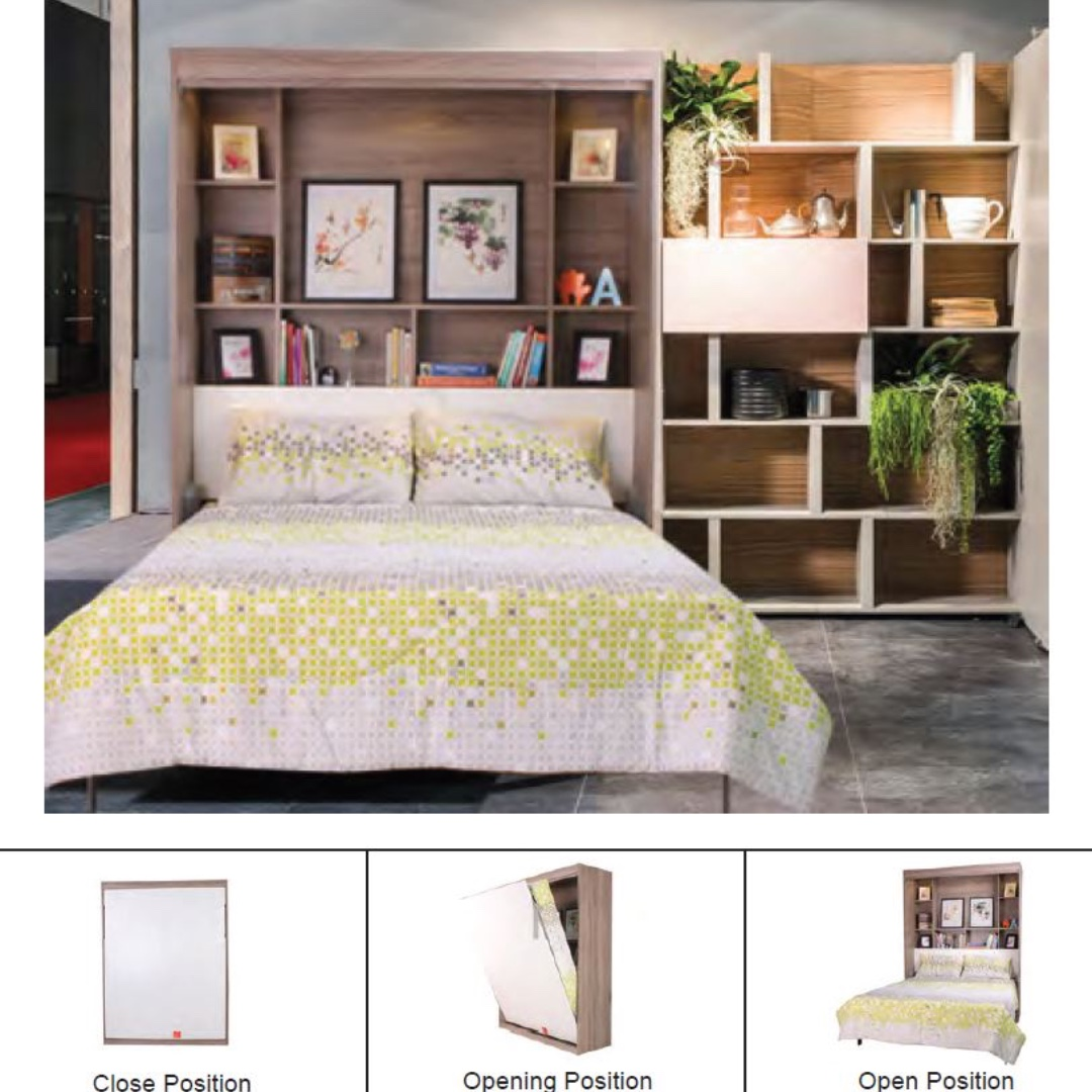 Space Saving Electrical Queen Size Murphy Wall Bed Furniture Beds