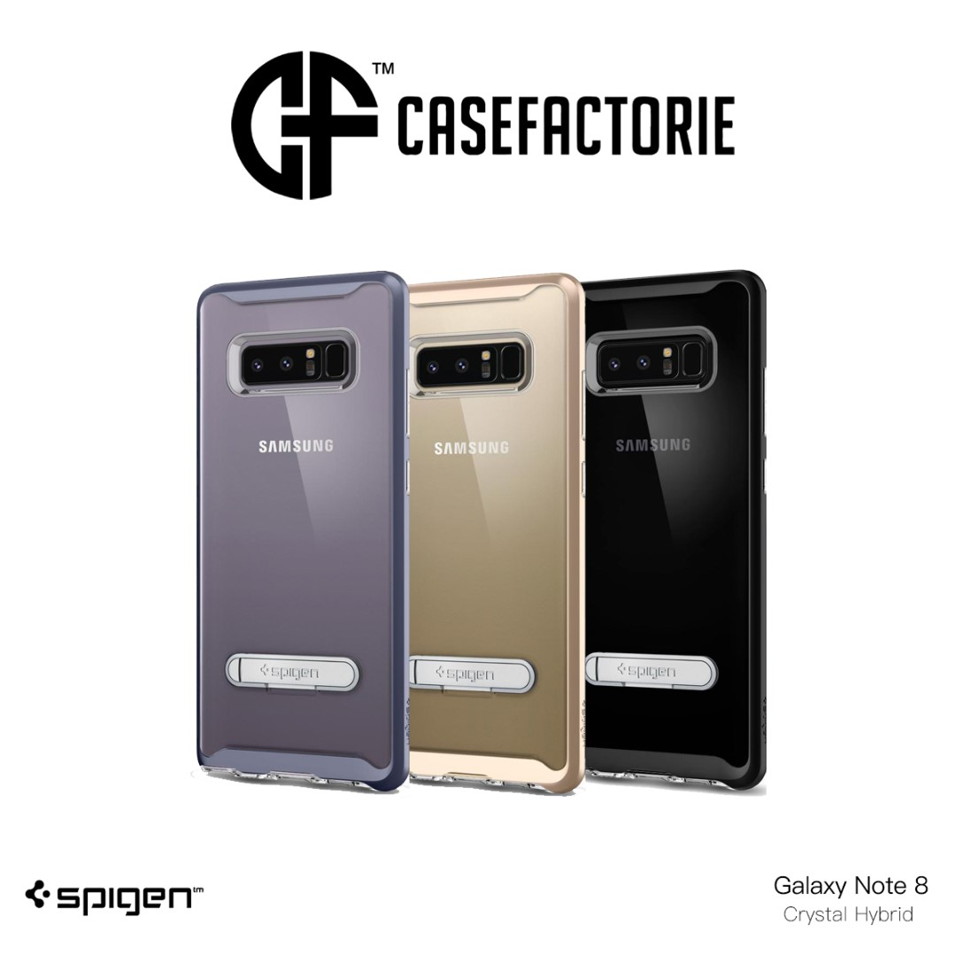 Spigen Crystal Hybrid Case For Samsung Galaxy Note 8 Mobile Phones Tablets Tablet Accessories On Carousell
