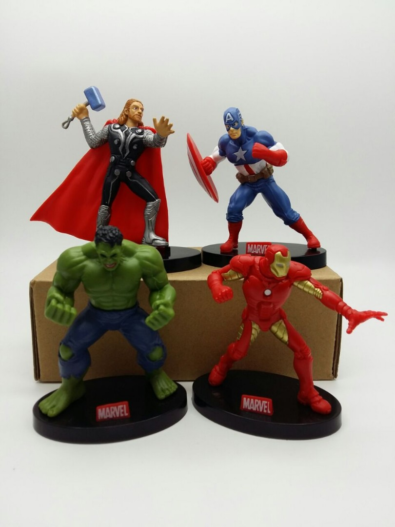 Superheroes Captain America Thor Hulk Iron Man Birthday Cake Topper
