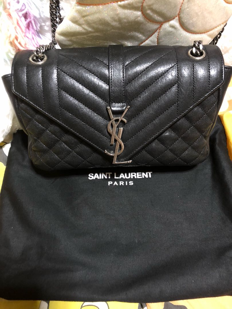 ac957edac Ysl College Small, Luxury, Bags & Wallets, Sling Bags on Carousell