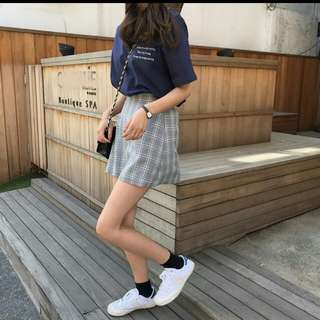 🚚 韓風灰色格子裙