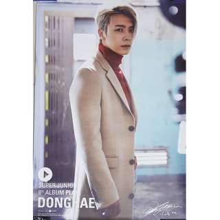 🚚 SUPER JUNIOR DONGHAE PLAY POSTER