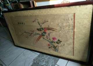 相框壁掛湘繡畫