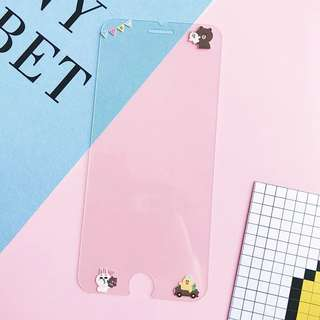iPhone 鋼化膜 iphone7/8plus line friends 熊大
